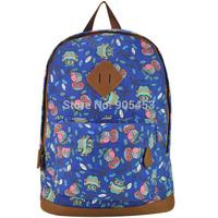 New  Owl Canvas  Women Printing Backpack School Rucksack Shoulder Bags 819 Sale FF1928