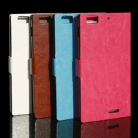High Quality Fashion Leather Case for Lenovo K900 , Flip Case For Lenovo K900 , k900 cover lenovo Free Shipping