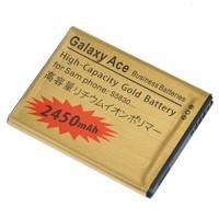 3pcs/lot New High Capacity 2450mAh Golden S5830 Battery For SAMSUNG Samsung Galaxy Ace S5830 Galaxy Gio S5660 Free Shipping