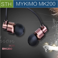 Original MYKIMO MK200 3.5mm In-ear high Quality Super Clear Noise Metal heavy bass headphones, mic & china Brand earphones