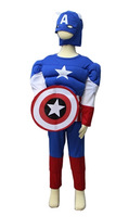 kids america captain costume superman costume, halloween costume  for party,  cosplay costume carnival dress