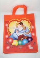 Cartoon Prince and Princess Fibre Reusable Eco copping Bag Handbag Tote Bag