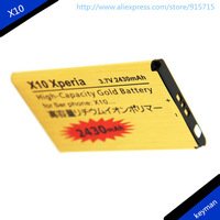 2PCS High Capacity 2430mAh X10 Gold Business Battery For SONY Ericsson X10 XPERIA X1/Xperia PLAY Z1i R800 Mobile Phone Batteries