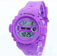 2014 New  women watch waterproof 30 m men watch sports  watch cheap multifunction  watch 8 colors silicone watch  free shipping
