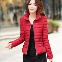 High Quality New Korean Winter Coat Women Fsdhion Short Down Jackets Women's Solid Slim Down Jacket Lady Padded Jacket Women