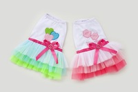 Cute Bow on back Pet Dog's Summer Dress Clothing for dog Free Shipping Dogs dress