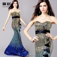 Brand Guoisya New Elegant Floor-length Women Trumpet/Mermaid Cocktail Dress Evening Dress Banquet Prom Gown