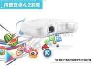 400 ANSI Lumens WIFI Android HD Protable 3D mini led projector HDMI Ti-DLP OTG Keystone Correct