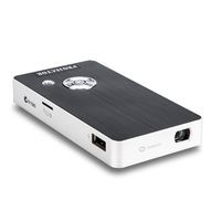 Compact mini projector 2-in-1 Pico Projector and power bank Support microSD card HDMI AV in