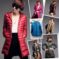 7 Colors Plus Size Autumn Winter Coat Women Ladies Long Wihte Duck Down Coat Down Jacket Casual Female Parka Overcoat YFZ34