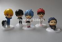 2014 New High Quality Cute Kuroko's Basketball Action Figures Kagami Taiga/Kuroko Tetsuya PVC toys 5PCS/SET Gift For Children