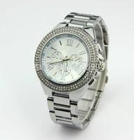 Free ship drop ship CPAM 2014 new fashion women's wristwatch ladies luxury with dual diamond brand watch 3colors