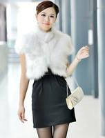 Free Shipping 2014 Fashion Elegant fox fur waist short fur top design female fox fur vest outerwear plus size furs women coat