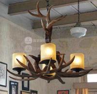 Lamp fashion vintage american rustic antlers lamp pendant light
