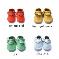more color  genuine  cow leather  baby moccasin shoes