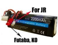 Regester free shipping!! RC Transmitter Lipo Battery 11.1V 2200mAh For JR Futaba BEC Transmitter
