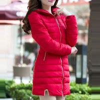 2014 Parkas For Women Winter Long Coat Slim Thick Hooded Parka Womens Down Jacket Casaco Feminino Inverno XXL WWY067