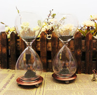 Free Shipping 1Piece Hand-blown Timer Magnet Hourglass / Magnetic Hourglass / classical home hourglass