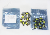 Free Shipping 10pcs Aluminum COB Chip Festoon 30mm 2W LED Car Auto Dome Lamps White Light 12V