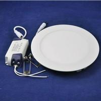 Ultra thin 6W / 9W / 12W / 15W/ 18W/ 21W LED Ceiling Recessed Grid Downlight / Slim Round Panel Light