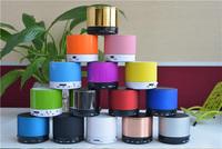 S10 Metal Mini Portable  Hi-Fi Bluetooth Wireless colorful Speaker TF Slot Handfree Mic Stereo Portable Speakers