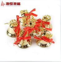 The Christmas Tree Decorations,3.5cm Mini Bell Free Shipping(6pcs)