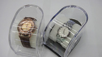 Hot sale New fashion transparent WATCH BOX.Unisex convenient gift packing/watch set boxes 9*7.5*5.8cm Free shipping