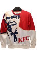 Pullover 3D KFC Founder Print Red Sweatshirt Sweater Hoodies