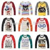 Drop Sale, Kids Autumn Spring Long sleeve T-shirt 100% Cotton, Cartoon  cotton T-shirt TZ18ATT