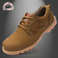 The new leisure Men's leather shoes with cowhide leather fashion tooling DaTouXie outdoor Men's shoes wholesale