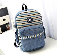 Fashion Women Ladies Backpack Canvas Stripe Leisure Bags women printing backpack school bag travel student backpack