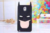 3D Superhero ironman Superman Captain America Batman Soft Silicone Case Back Cover For Samsung Galaxy  Note 3 N9000 10pcs/lot