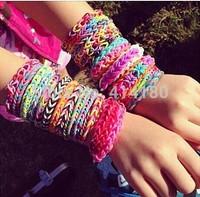 Free shipping 54pcs/Lot Frozen DIY Color Band Set Fashion Bracelets For Girls DIY Bracelets Frozen DIY-POP Frozen Rubber Bands