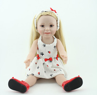 Smiling Full Vinyl Kids Toys Cheap American 18 inches Girl Dolls Handmade Hobbies Realistic Standing Sitting Baby Alive Doll