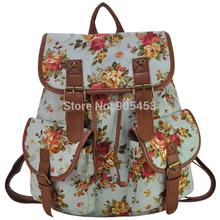 New  Floral  Women Printing Backpack School Rucksack Shoulder Bags 11-11 Sale FF1932(China (Mainland))