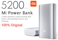 1Set Original xiaomi Power Bank 5200mAh Portable Charger Powerbank External Battery Pack Charger for xiaomi iphone Samsung HTC