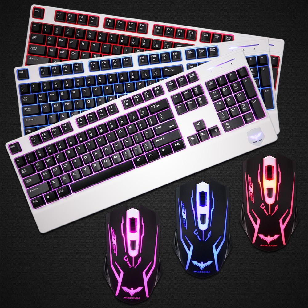 2014 perfekte kombi-set excellcent Qualität tastatur und maus set 3 anderen Licht einstellen frei Mäuse
