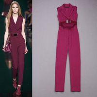 2014 spring and summer fashion trends temperament elegant handsome piece pants suit sleeveless hot trend