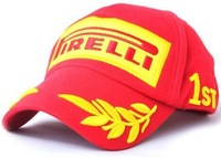 Free shipping 2014 Pirelli motorcycle black red F1 car racing fans running summer snapback bone baseball sport sun hat cap
