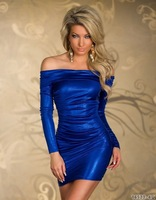 Direct supply of foreign production house club wear sexy underwear tight long-sleeved dress free delivery