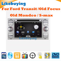 Silver Color 7 Inch DVD GPS Navigation Radio for Ford Transit / Old Focus / Old Mondeo / S-max Free 8G card with Map