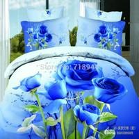 28 Colors Top Quality Promotion 4pcs 3D Bedding Set  Quilt Cover Bedsheet Bedlinen Sets
