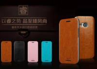 leather case for htc one m8 mini leather flip cover with mofi brand Support Mix Wholesale