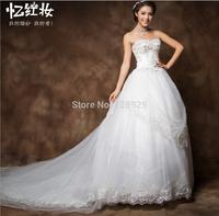 Autumn and winter dress elegant lace skirt fashion trailing waist wedding H13833