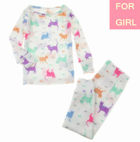 2014 New Carter Kid Girl Cotton 2-piece Longsleeve Pant Pajamas Suit Sleepwear Nightclothes Pyj Set, Full Cat,8T, YW