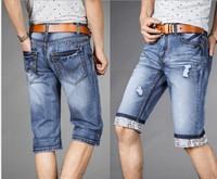 2014 New Famous Brand Short Jeans Men Denim Blue Boy's Hot Short Cotton Beach Pants Fashion Summer Mens Shorts jean ,jeans men