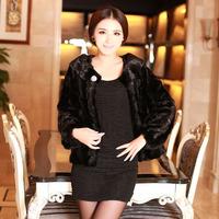 Haining 2014 Free Post Dongkuan fight mink mink fur coat ladies luxury mink coat sleeve short paragraph