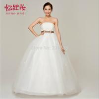 Korean women dress waist bowknot Qi bra straps Sweet Princess 2013 new H12144