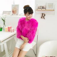 Haining 2014 Free Cotton Flax fox fur fox fur entire mail piece coat sleeve Korean nine round neck fur