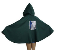 Attack on Titan Investigation Corps Green Cloak Cosplay Anime Costume
